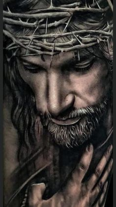 Jesus Christ Drawing, Jesus Christ Painting, Jesus Drawings, Jesus Art, Christ Tattoo, Jesus Tattoo, Catholic Art, Religious Art, Ancient Greek Symbols