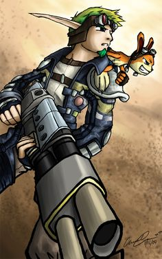 Jak & Daxter---(This video game is the one that I grow up with as a kid...Weird huh?) ;)