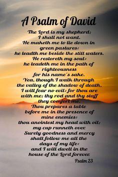 A beautiful x refrigerator magnet of Psalm 23 Psalm 91 Prayer, Prayer Scriptures, Faith Prayer, God Prayer, Prayer Quotes, Bible Verses Quotes, Salvation Prayer, Spiritual Prayers, Prayers For Healing