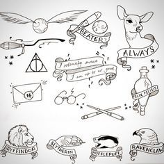 """""""HARRY POTTER FLASH! Deets: Friday Aug 7, 10am-9pm, walk-in only. Chapter stars, glasses, and hallows $40, everything else $50, $10 more for color (limit…"""""""