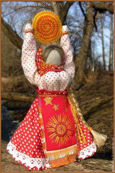 Купить Масленица-Ясочка - ярко-красный, Масленица, домашняя масленица, кукла, народная кукла