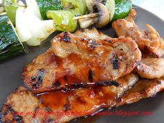 """Easy Grilled Korean BBQ Pork Chops--Let me just say, EASY and DELICIOUS!!!  I used boneless pork loin, and thinly sliced them to about 1/4"""". You'll need to look in the Oriental section of the store to find the ingredients. I followed the recipe EXACTLY, and I made extra sauce and to coat the pieces after they were cooked. I used a gas outdoor grill at medium high heat and it only took a few minutes to grill on each side. I will be making this again for a party in a few days, it was THAT…"""