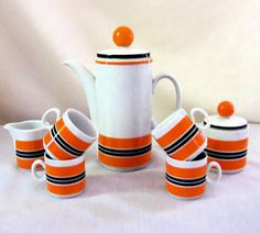 Mid Century Mod  Coffee Tea Set Winterling Bavaria by BeeHavenHome, $74.00