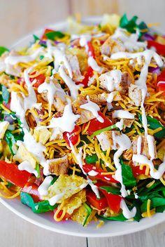 Chicken taco salad recipe by JuliasAlbum.com, Pawleys Island Posh