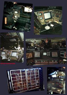 """The bridge of the Nostromo Quentin Tarantino Films, Alien 1979, Starship Concept, Film Blade Runner, Film Games, Peep Show, Aliens Movie, Final Cut Pro, Game Concept Art"
