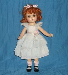 "Jeannie Walker Madame Alexander 14"" Composition Doll Marked Red Head Amber Eyes 