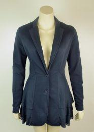 Stretch Cotton Side-Pleat Jacket