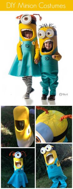 Minion costumes collage