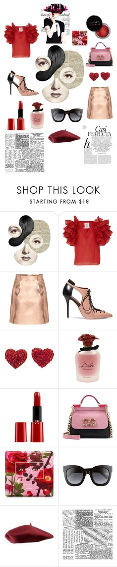 """go bold"" by hannahxjolie ❤ liked on Polyvore featuring Rosie Assoulin, Malone Souliers, Dolce&Gabbana, Giorgio Armani, Concrete Minerals, Jo Malone, Gucci, Whiteley and Alexander McQueen"