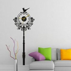 Elegant Dezines Dual Colors Numbers Wall ClockWall ClocksWall
