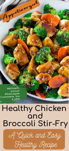 Healthy Chicken and Broccoli Stir-fry – Appetizer Girl - - This Healthy Chicken and Broccoli Stir-fry recipe is a very simple recipe but has winner taste. Precedure are very easy and can be done in just 30 minutes. Chicken Broccoli Stir Fry, Cabbage Stir Fry, Chicken And Cabbage, Broccoli Recipes, Healthy Chicken Recipes, Healthy Dinner Recipes, Asian Recipes, Appetizer Recipes, Vegan Meals