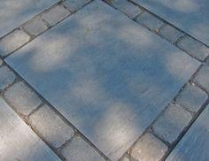 Patio paver ideas for your garden or backyard. Stone, brick, and block paver design ideas. Paver Edging, Paver Walkway, Outdoor Patio Pavers, Bluestone Pavers, Paver Designs, Fire Pit Area, Edging Ideas, Small Patio, Landscape Design