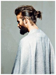 Finn Brock Rocks Chic Mens Hair Updos for QVEST Shoot
