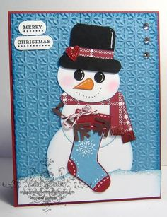 Punch Art Snowman by lisa foster - Cards and Paper Crafts at Splitcoaststampers