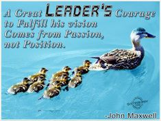 This is the Leadership Quote that I picked for the front of the student planners this year.
