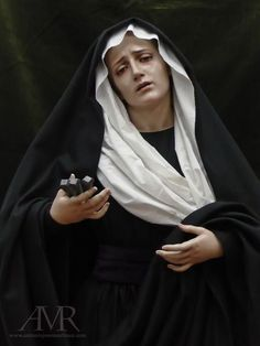 Behold thy Mother and Holy Queen! Our Lady of Sorrows by Antonio Jose Martinez Blessed Mother Mary, Blessed Virgin Mary, Religious Images, Religious Art, Jose Martinez, Verge, Our Lady Of Sorrows, Images Of Mary, Queen Of Heaven