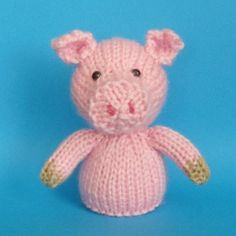 Pig Toy Knitting Pattern PDF
