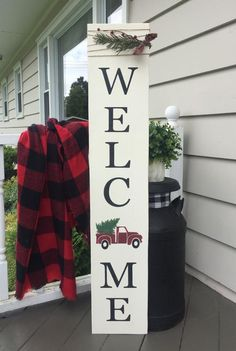 Excited to share this item from my shop: welcome sign porch sign vintage truck sign red truck winter sign winter welcome sign Christmas winter porch porch decor tall sign Christmas Truck, Rustic Christmas, Christmas Diy, Christmas Pallet Signs, Christmas Quotes, Merry Christmas Outdoor Sign, Christmas Porch Ideas, Vintage Christmas, Christmas Crafts To Make And Sell