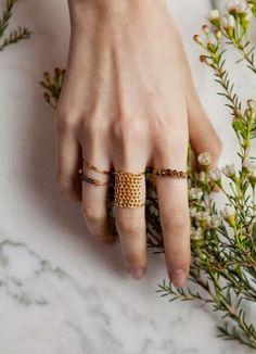 lara melchior honeycomb ring