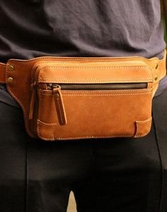 Genuine Leather Mens Chest Bag Cool Sling Bag Waist Bag Bike Bag Cycling Bag For Men – Men's style, accessories, mens fashion trends 2020 Leather Belt Pouch, Small Leather Bag, Leather Fanny Pack, Men's Leather, Mens Waist Bag, Mens Leather Accessories, Hip Bag, Messenger Bag Men, Leather Bags Handmade