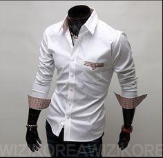 2012 new Mens shirt Fashion Casual Slim Fit Stylish cotton Long Sleeve dress shirts Luxury