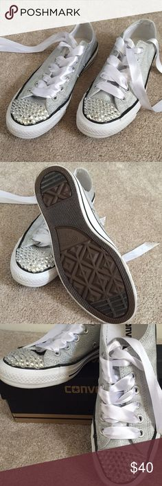 Like New Converse All Star Chuck Taylor shoes These have only been worn once to Prom. They are in excellent condition. Size 7. Converse Shoes Sneakers