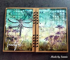 Made by Sannie: Nature is Beautiful art journal spread with video tutorial - #sssmchallenge - Anything but a card is what we're asking for this week @Simonsaysstamp Monday Challenge!