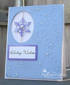 Where'd All My Money Go?!: Holiday Wishes.  Love how this snowflake looks like it is suspended.