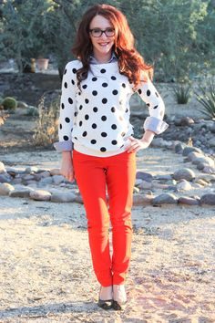 red and polka!