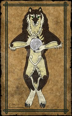 Tharraingt Anuas an Ghealach -Celtic Wolfsjal- by Nashoba-Hostina.deviantart.com on @DeviantArt