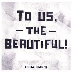 """Franz Nicolay helped us kick off the year right with his album """"To Us The Beautiful"""". Click the image to shop on download, CD or vinyl"""