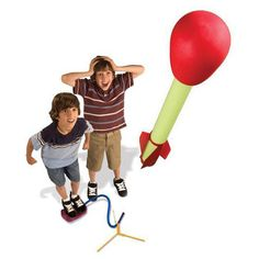 Set up the stand, position the rocket over the tube, commence the countdown, stomp on the air pad, and FWOOF!!  The Ultra Stomp Rocket LED goes flying up to 150 feet into the night sky, shining bright with LED lights.