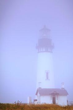 Fogged In at Tillamook Rock Lighthouse - Cannon Beach (Oregon, USA)