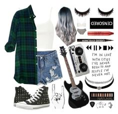 Untitled #7 by whoochu on Polyvore featuring polyvore, fashion, style, River Island, Splendid, Topshop, Converse, Charlotte Russe, VidaKush, Zero Gravity, Forever 21, tarte, H&M, Grado, tumblr, Inspired, grunge, PunkRock and 90sgrunge
