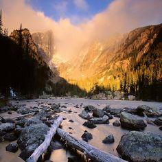 Hallett Peak And Flattop Mountain Colorado