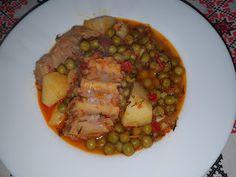 Lulu - Povesti din Bucatarie: Costite de porc cu mazare Ratatouille, Ethnic Recipes, Pork
