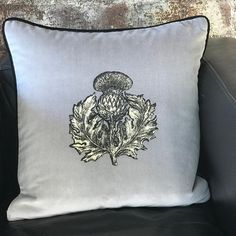 Our new Thistle and Napoleon Bee Cushions are available to preorder now from our Glasgow and London Showrooms The two prints are available in colours grey, gold and crimson. Timorous Beasties, Thistles, Lampshades, Napoleon, Glasgow, Bees, Gray Color, Two By Two, Cushions