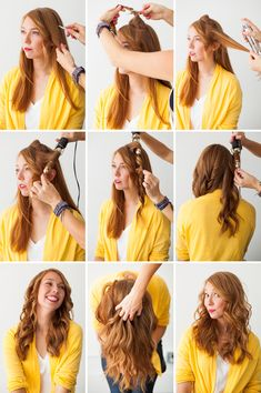 Hair hack - use a curling iron to make waves in your hair
