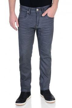 5256e35a17 Crosshatch Slim Fit Stretch Denim Jeans Menzo Steel Grey