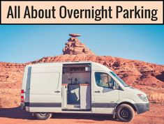 Overnight parking seems like one of the most intimidating aspects of van life be… Big Van, Bus Living, Tiny Living, Minivan Camping, Camper Van Conversion Diy, Camping Guide, Camping Hacks, Camper Life, Camping Activities