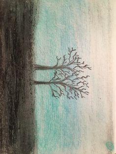 Pastel Tree Practice My Arts, Pastel, Painting, Cake, Painting Art, Paintings, Painted Canvas, Crayon Art, Drawings