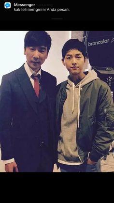 Song Joong Ki Shooting for RUHENS yesterday. #DescendantsOfTheSun