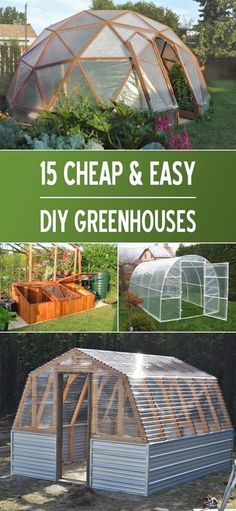Awesome collection of projects as well as tutorials on how to make your very own DIY greenhouse #gardeningideas