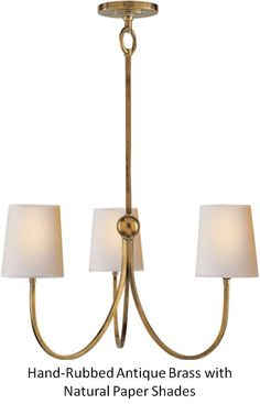 SCW Interiors - Small Reed Chandelier $440