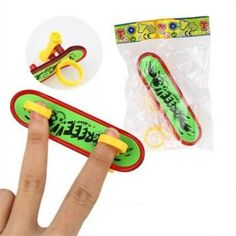 Mini Plastic Fingerboard Professional finger skateboard for kids novelty items Toy Finger Skate with spring and ring