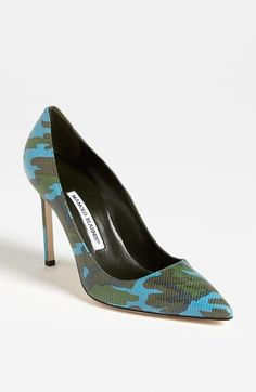 For my hunting friends, now you can do it in style!!!!! Manolo Blahnik 'BB' Pump available at #Nordstrom
