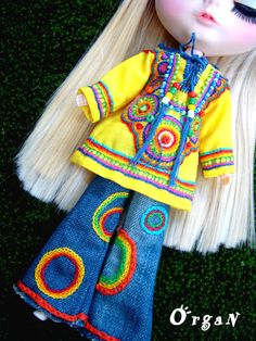 OOAK Little India ART Tunic CooL ChiC  JeanS  and by organ111, $48.00