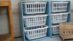 Tame Your Laundry Chaos with a DIY Laundry Basket Dresser. A good way to have your laundry sorted and READY....