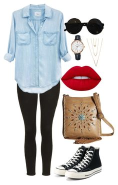 """""""Untitled #1407"""" by mygenuca on Polyvore featuring Topshop, Rails, Converse, M&F Western, 3.1 Phillip Lim, Lime Crime, Lorus and SHAN"""