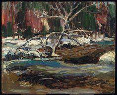 Tom Thomson Spring Thaw, 1916 Oil on Board 21.7 x 26.9 cm